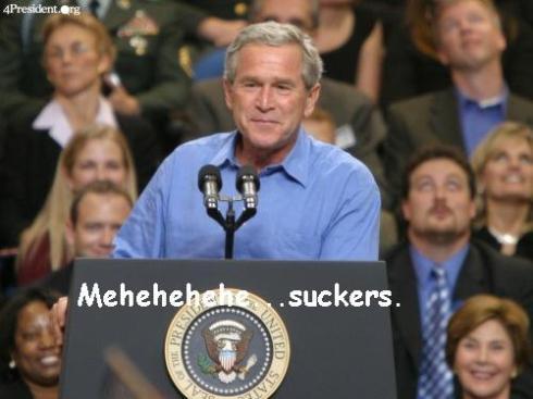Bush Pulls a Fast One