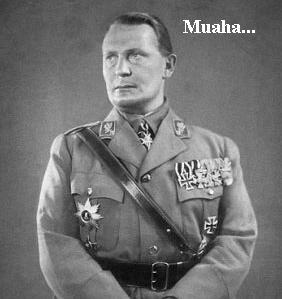 Hermann Goering looking scary