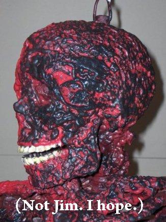 charred corpse