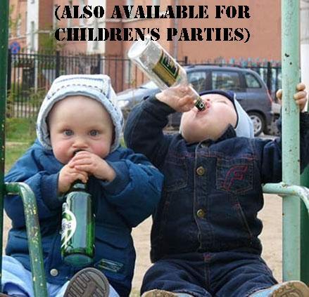 children drinking booze
