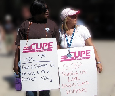 CUPE strikers