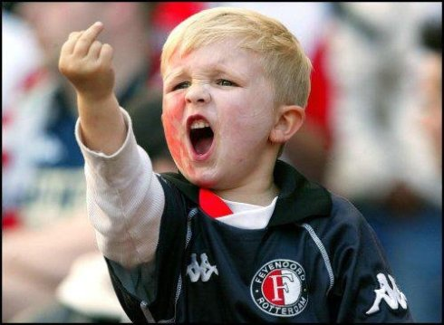 kid giving middle finger
