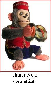 monkey with cymbals