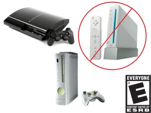 game system comparison xbox ps3 wii