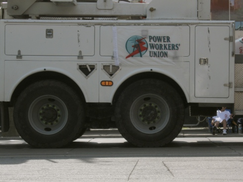 power worker's union truck