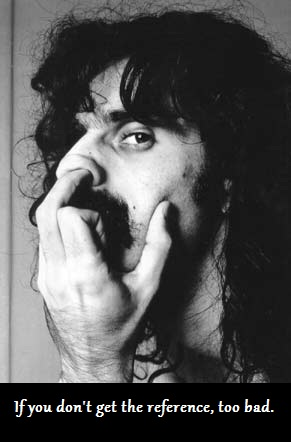 zappa middle finger